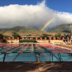 Image taken by Valentino K. right before a morning practice swim.